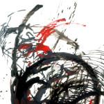 Descent, Drawing, 100 x 70cm