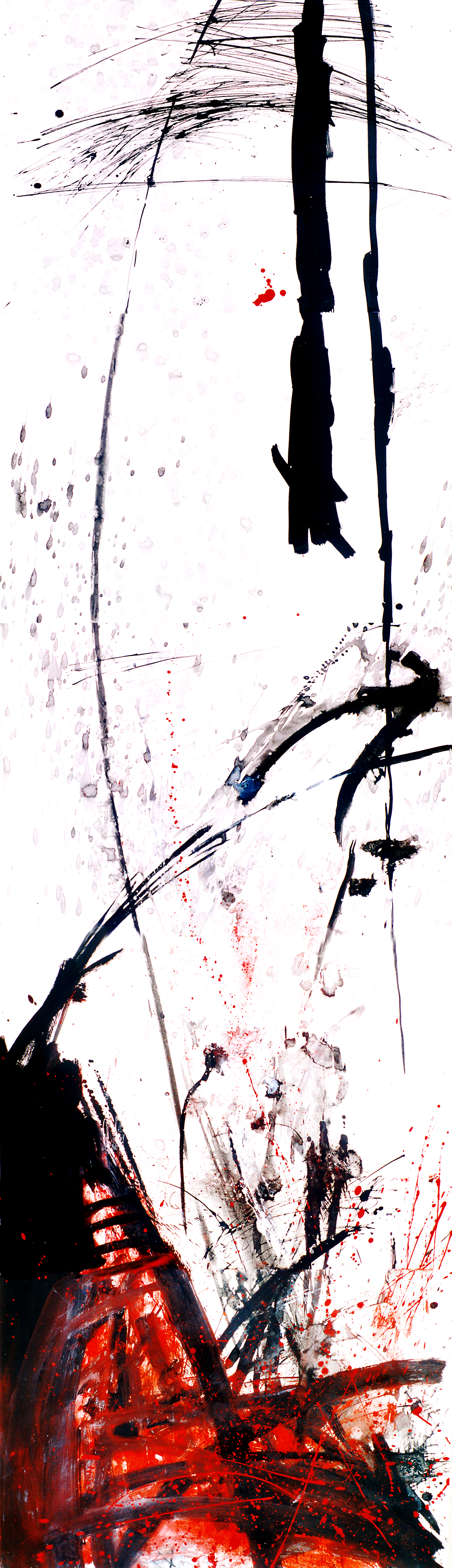 The Torch, Drawing 200 x 70cm