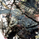The nibbling, Mix media/paper, 100 x 70cm